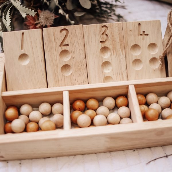 2 Tone Wooden Balls Set of 50 - Behind The Trees Wooden Toys