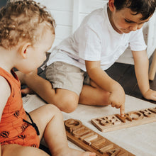 Load image into Gallery viewer, Personalised Wooden Name Puzzle - Behind The Trees Wooden Toys