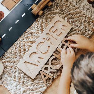 Personalised Wooden Name Puzzle - Behind The Trees Wooden Toys