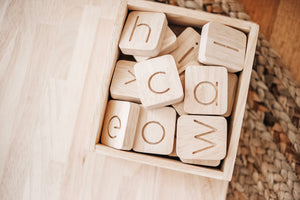 Word Building Kit - Behind The Trees Wooden Toys