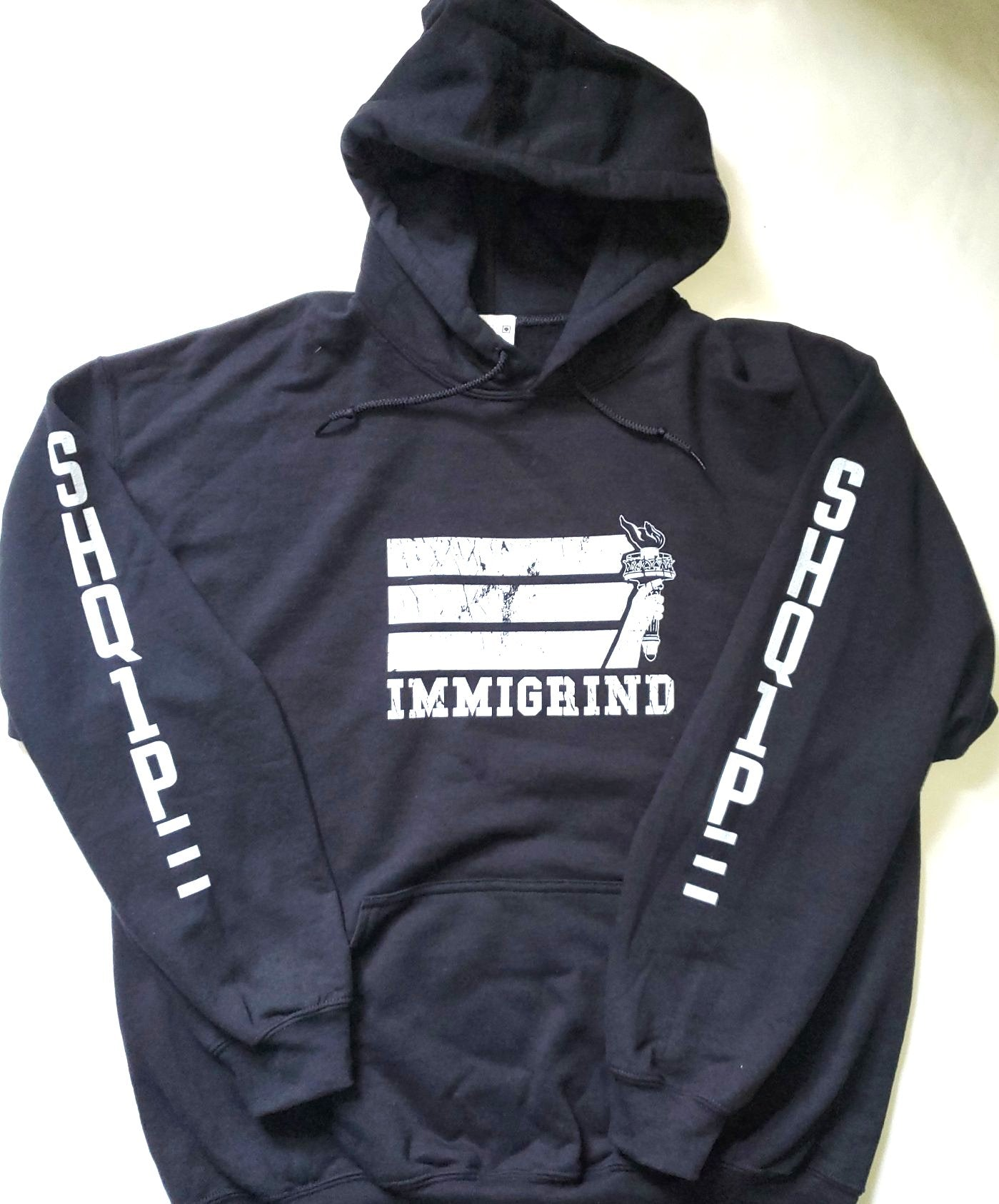 Pullover Hoody-Black Immigrind