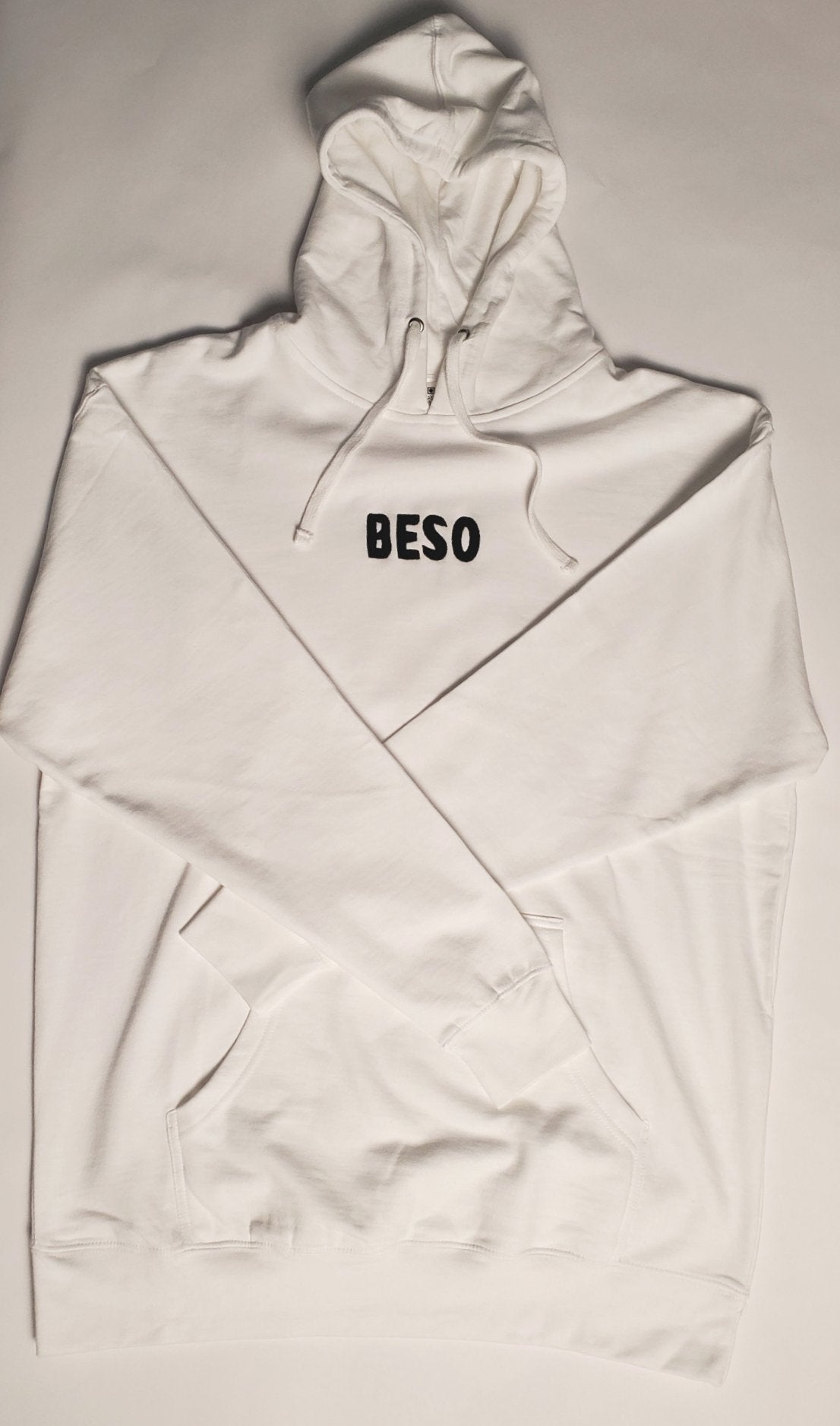 Heavyweight Pullover Hoodie White-Beso