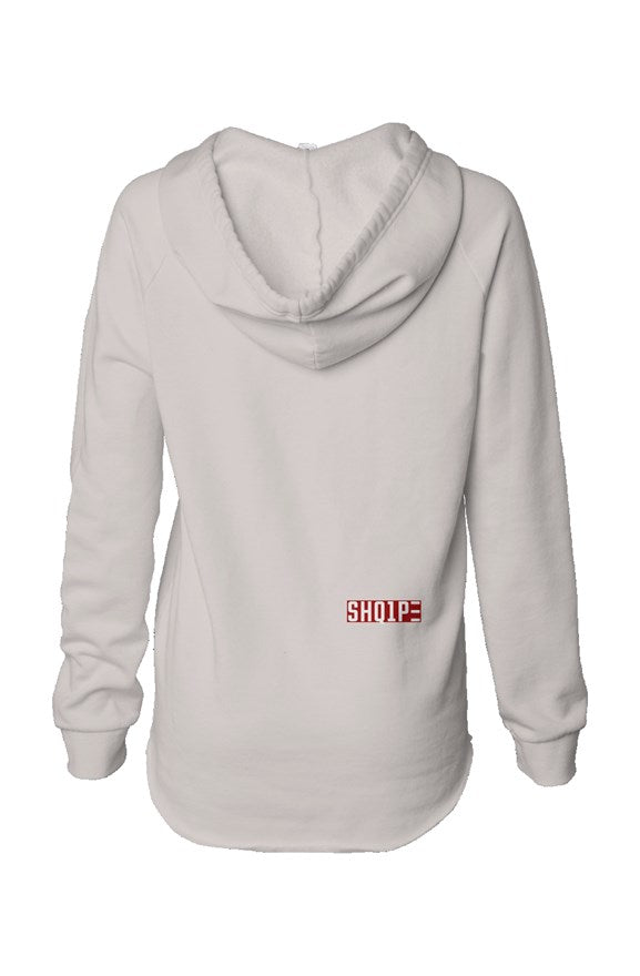 Womens Lightweight  Wash Hooded Sweatshirt