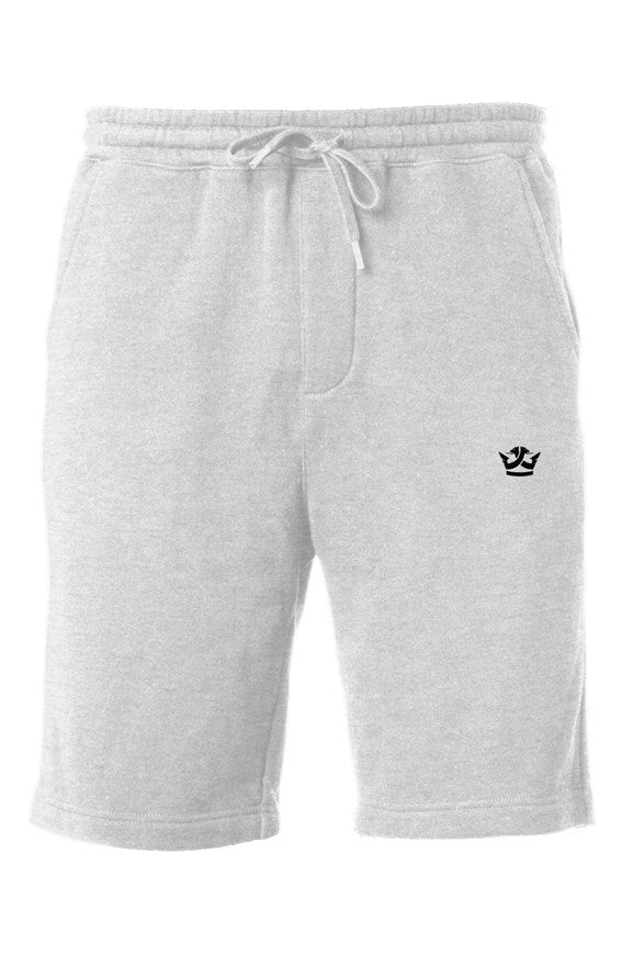 Midweight Fleece Shorts-White