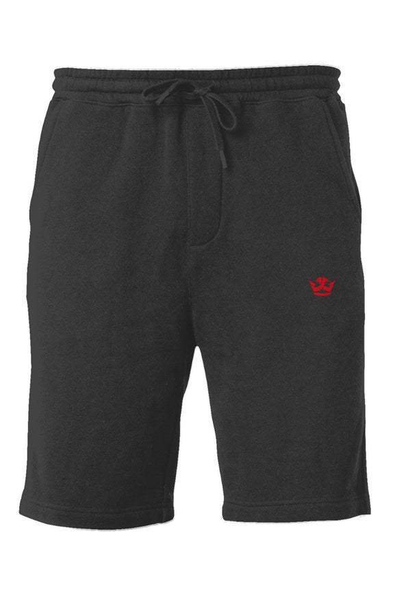 Midweight Fleece Shorts- Black (r)