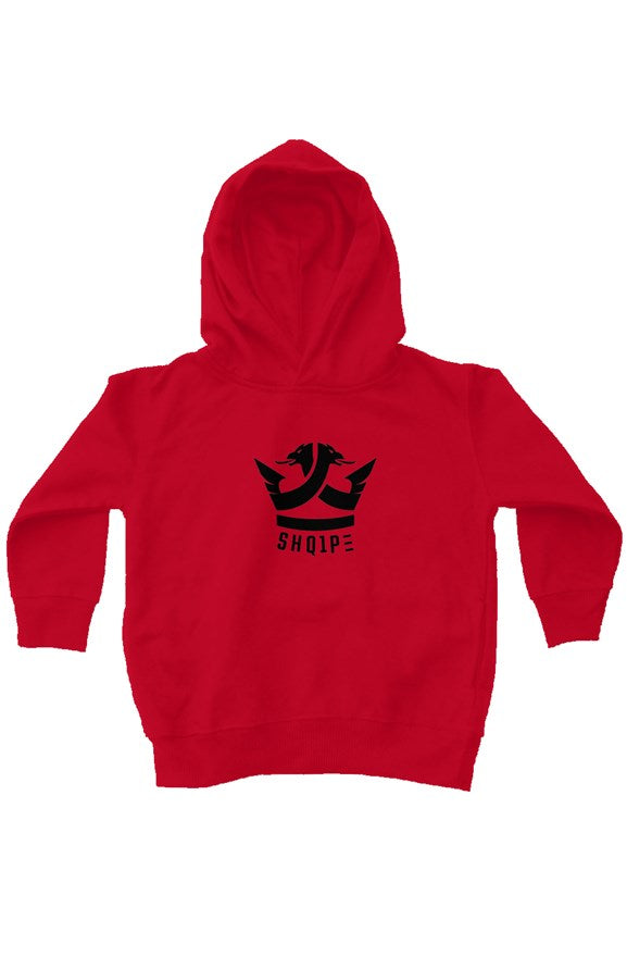 kids fleece pullover hoodie-red
