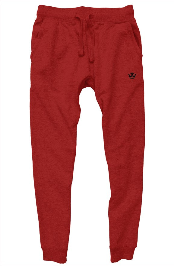 Premium Joggers-Red/Black Crown