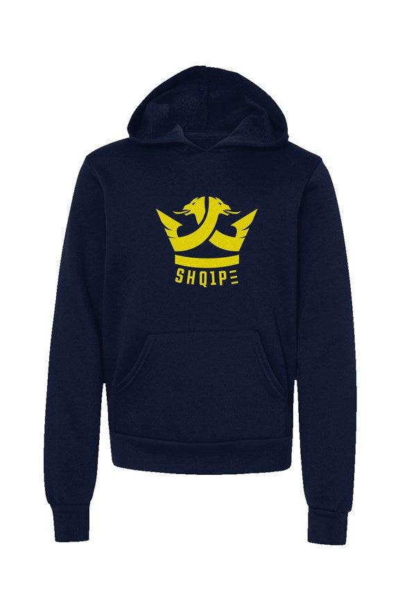 Youth Pullover Hoodie-Navy/Yellow