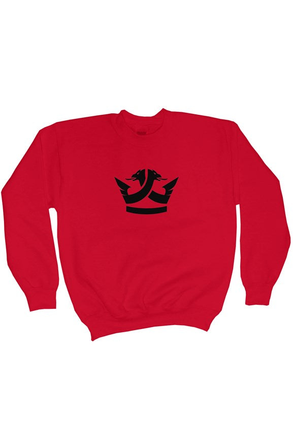 Heavy Blend Youth Crewneck Sweatshirt- Red