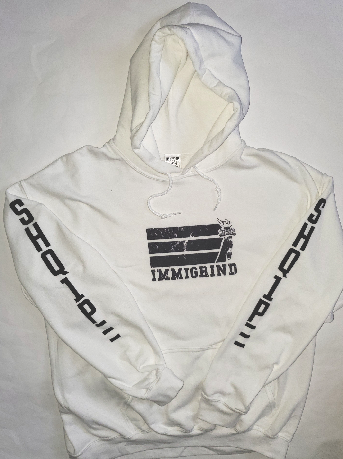 White Pullover Hoody_Immigrind