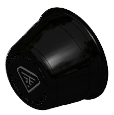 Black Long Centre Cap EE + Logo (Front or Rear)