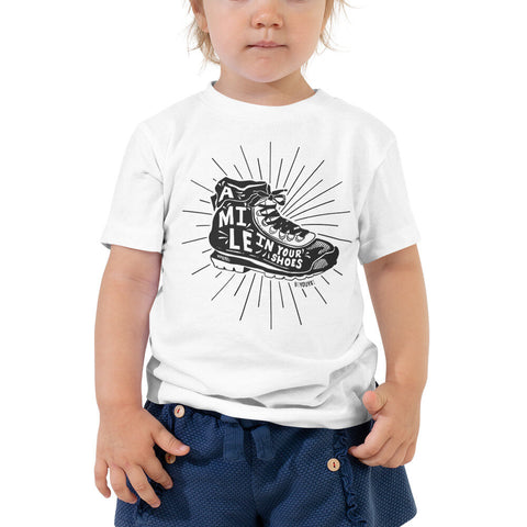 Toddler A Mile In Your Shoes T-Shirt - Be You YXE