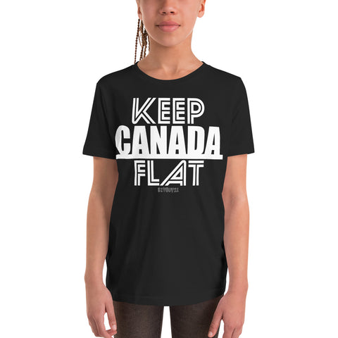 Keep Canada Flat Youth T-Shirt - Be You YXE
