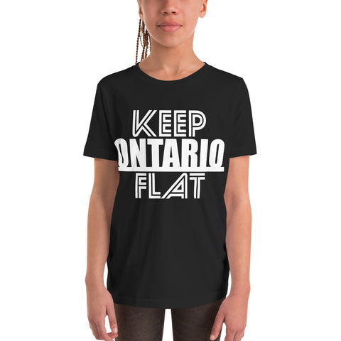 Keep Ontario Flat Youth T-Shirt - Be You YXE