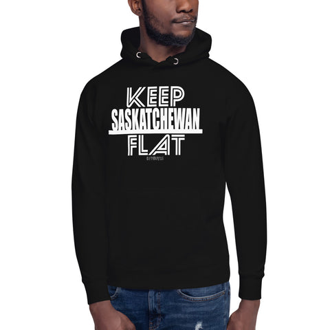 Keep Saskatchewan Flat Unisex Hoodie - Be You YXE