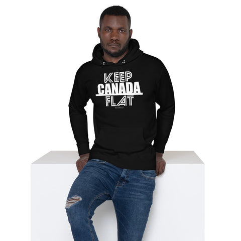 Keep Canada Flat Unisex Hoodie - Be You YXE