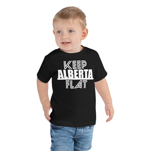 Keep Alberta Flat Toddler T-Shirt - Be You YXE