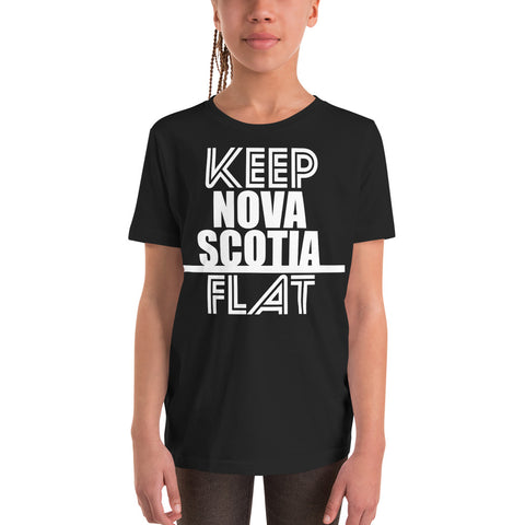 Keep Nova Scotia Flat Youth T-Shirt - Be You YXE