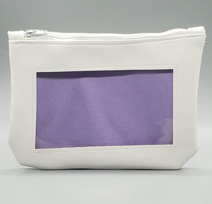 White purple pastel ita cosmetic bag