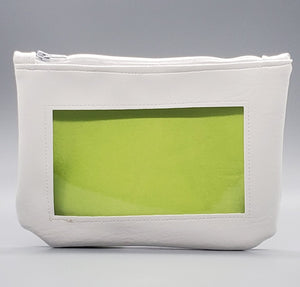 White neon green pastel ita cosmetic bag