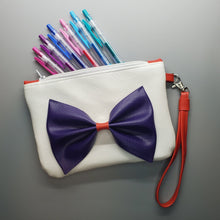 Load image into Gallery viewer, Purple Bow - Anime Inspired Ita Wristlet