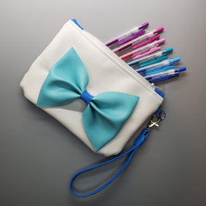 Light Blue Bow- Anime Inspired Ita Wristlet