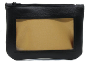 gold black ita cosmetic bag pencil pouch Anime Posh vegan leather satin
