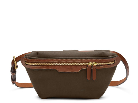 M/S Belt Bag - Army/Cuoio