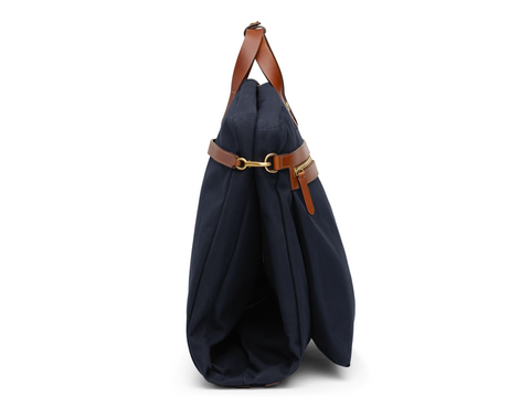 M/S Suit Carrier - Midnight blue/Cuoio