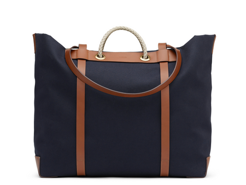 M/S Seaside - Midnight Blue/Cuoio