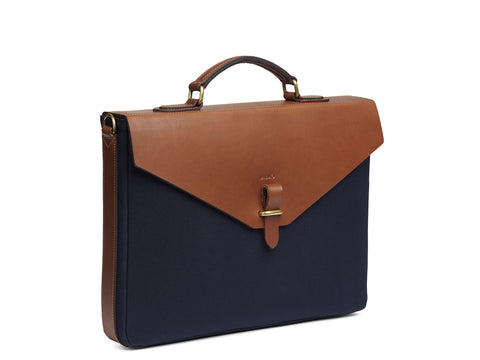 M/S Bureau - Midnight blue/Cuoio