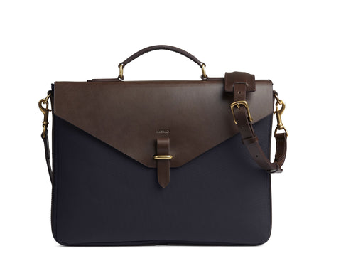 M/S Bureau - Navy/Dark brown