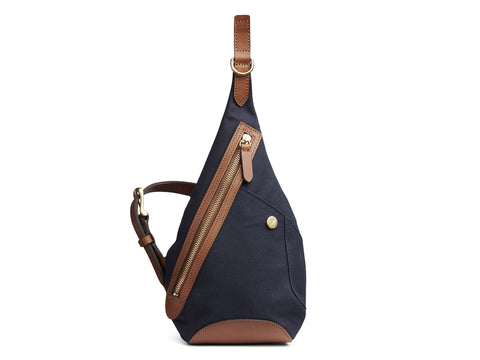 M/S Drop bag - Midnight blue/Cuoio