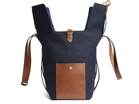 M/S Mega Tote - Midnight blue/Cuoio