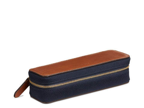 M/S Case - Midnight blue/Cuoio