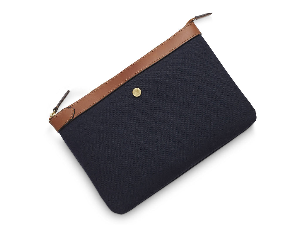 M/S Pouch - Midnight blue/Cuoio