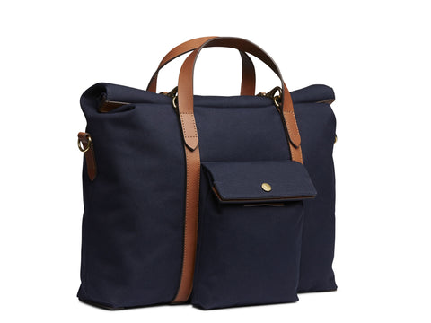 M/S Soft Work - Midnight blue/Cuoio