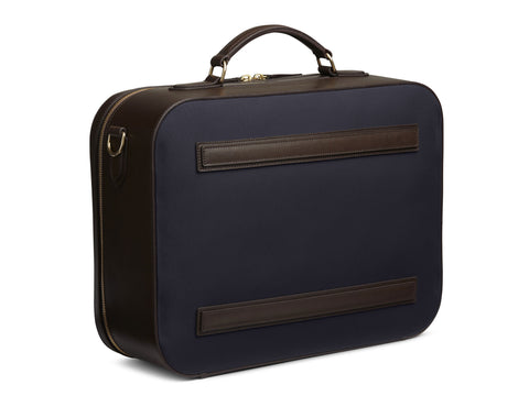 M/S Suitcase - Navy/Dark brown