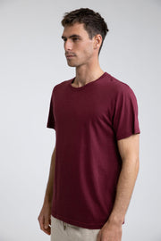 Premium Hand-Feel Soft Cotton and Linen Blend Jersey Tee, Rhythm, $40