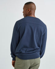 Classic Fit Relaxed Shoulder Mid-Weight Fleece Sweatshirt with Back Yoke Detail, Richer Poorer, $72