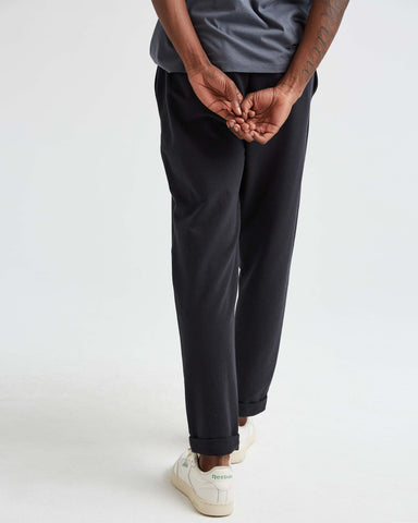 Trouser Fit Stretch French Terry Sweatpant with Cuffed Hem, Richer Poorer, $78