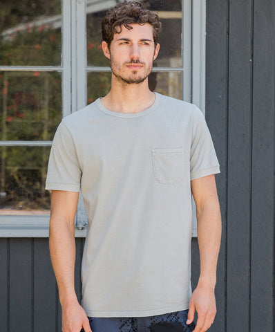 Classic Fit Soft Pigment Dyed Tee with Washed-Out, Lived-In Feel.  100% Organic Pima Cotton, Outerknown, $48