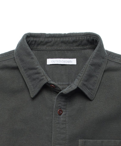 Relaxed Fit, Moleskin Shirt in 100% Organic Cotton and Brushed for Softness, Outerknown, $98