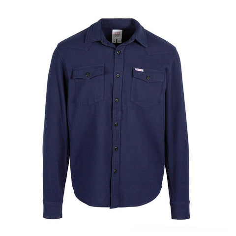 Midweight 100% Organic Cotton Twill Flannel Shirt with Western Detailing at Shoulder, Topo Designs, $89