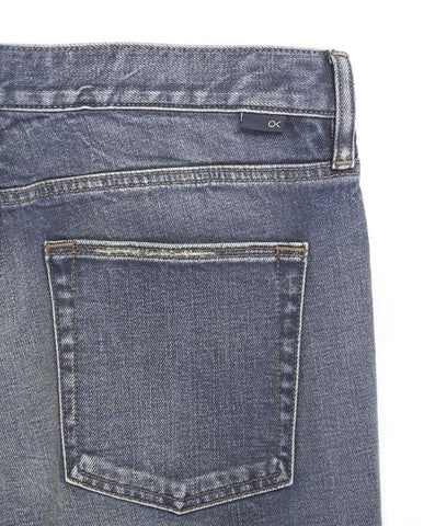 "12 oz Organic Cotton Straight Fit Denim 32"" Inseam in Worn Indigo Wash, Outerknown, $128"