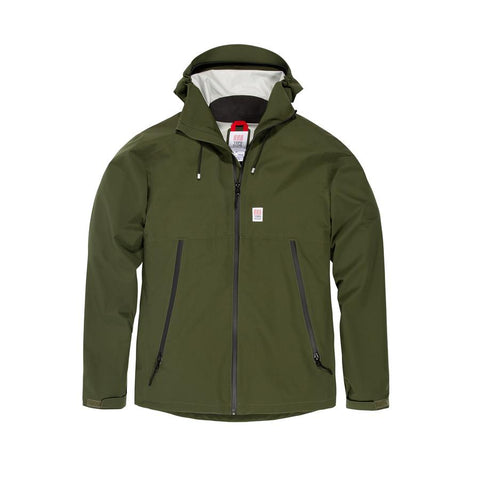 Classic Fit Fully Waterproof Jacket with 2-Way Stretch, Topo Designs, $189
