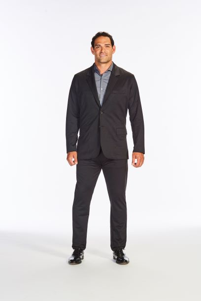 Flat Front Stretch Suit Pants