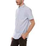 Load image into Gallery viewer, Larry Blue Vertical Striped SS Shirt