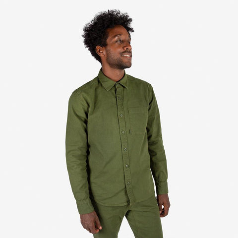 Garment Dyed Organic Cotton Work Shirt in a Classic Straight Fit, Topo Designs, $98