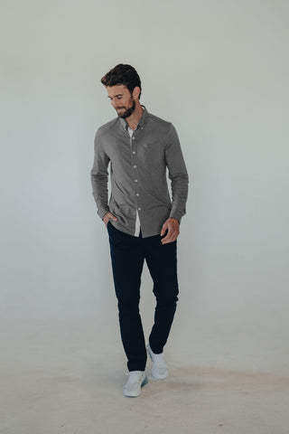 Knit Shirt in Lightweight Jersey Cotton Fabric, The Normal Brand, $88